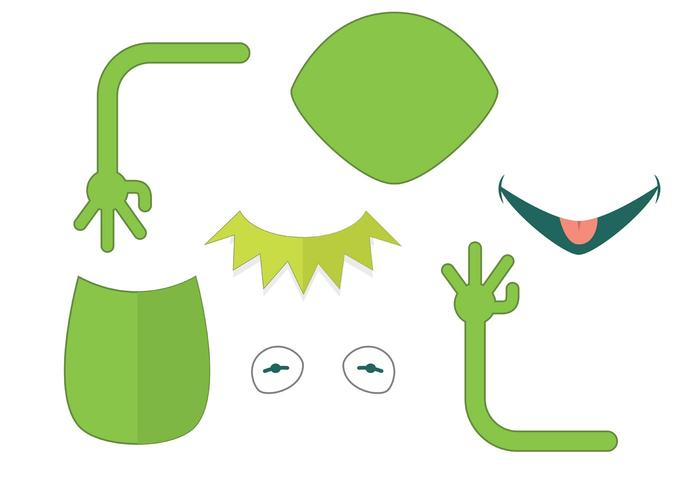 Kermit the Frog Vector Parts
