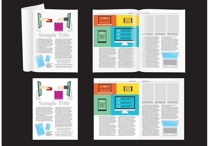 E shop magazine layout vector download free vector art for Magazine layout templates free download
