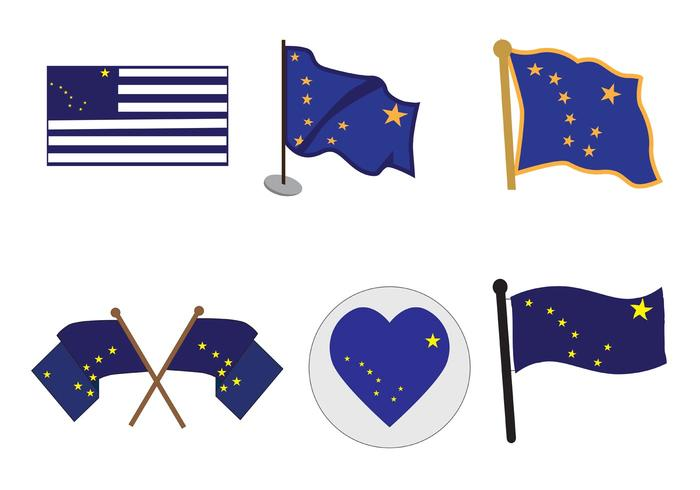 Vector Alaska Flags