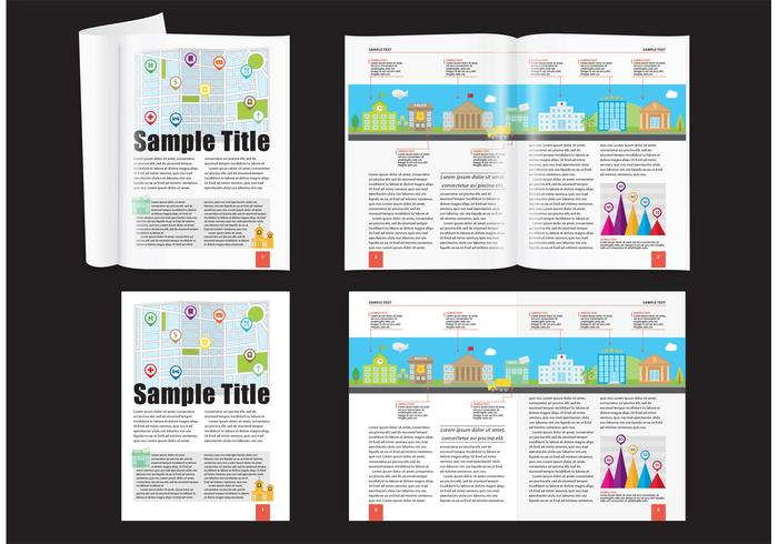 City Demographic Magazine Layout Vetor