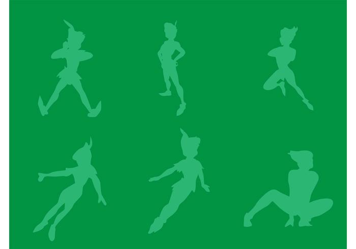 Free Vector Peter Pan Silhouettes