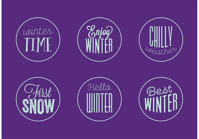 Winter Badge Vectors