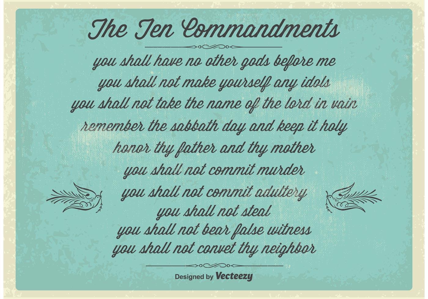 Vintage Ten Commandments Poster Download Free Vectors Clipart