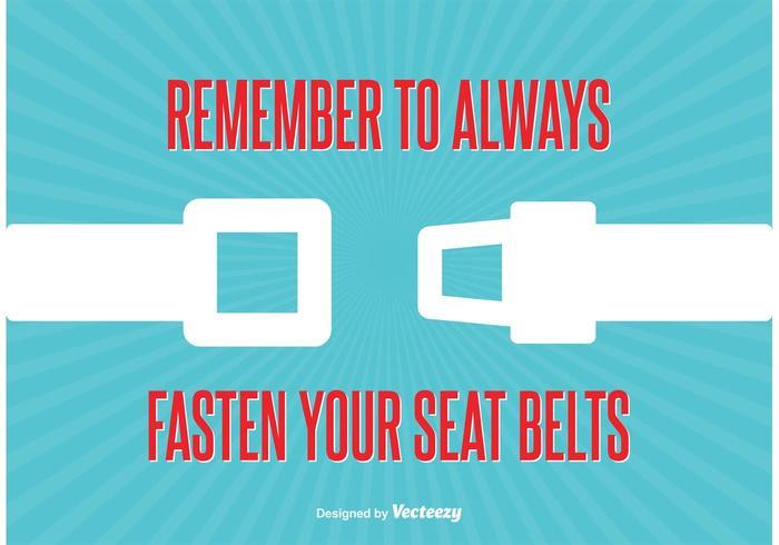 Seat Belt Sign Illustration