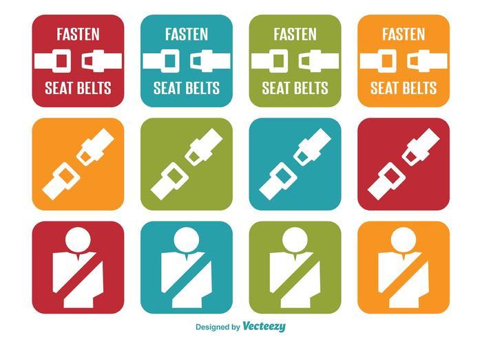 Seat Belt Icons
