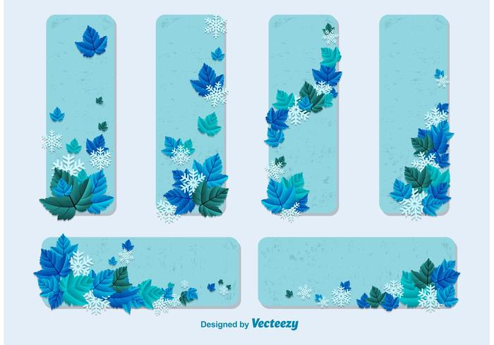 Winter Card Vector Templates