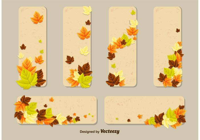 Autumn Leaves Vector Card Templates