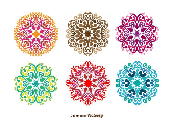 Floral Ornamental Vector Shapes