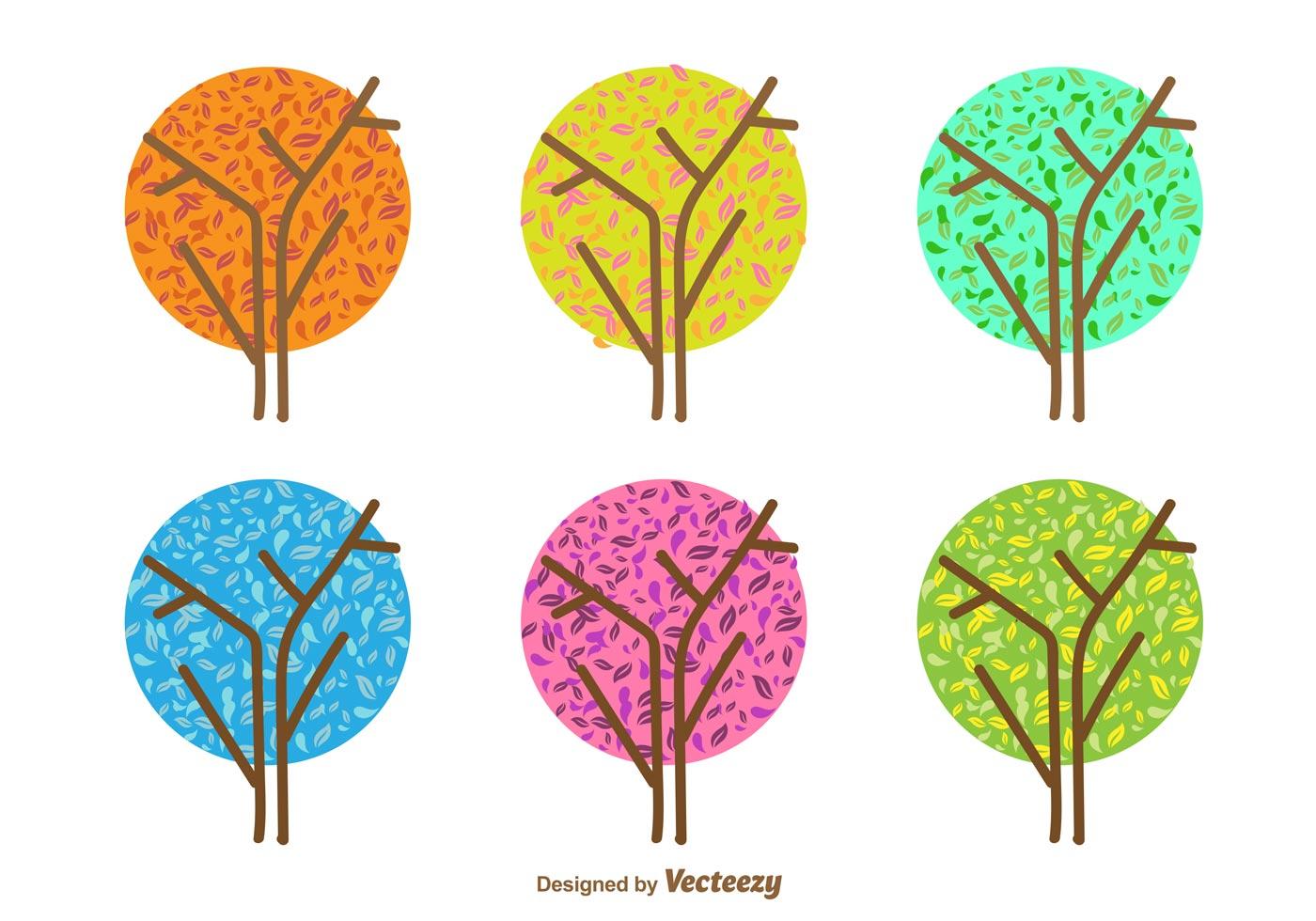 Minimal seasonal tree vectors download free vector art for Minimal art vector