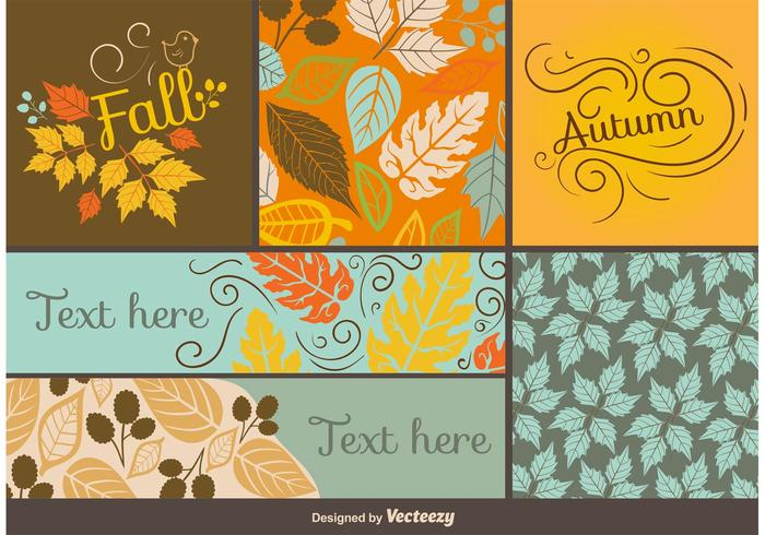 Fall and Autumn Card Vector Templates