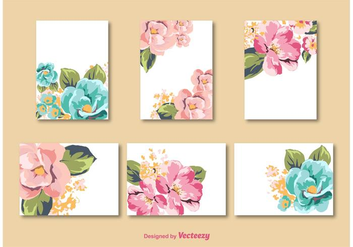 flower tags template free - flower card vector templates download free vector art