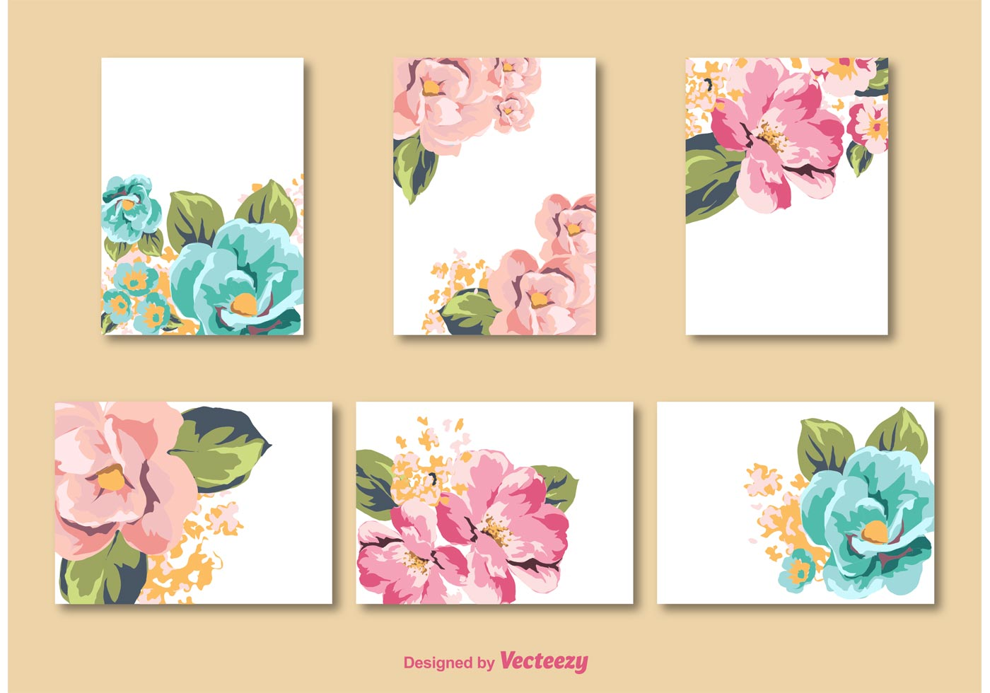 Flower Card Vector Templates Download Free Vector Art