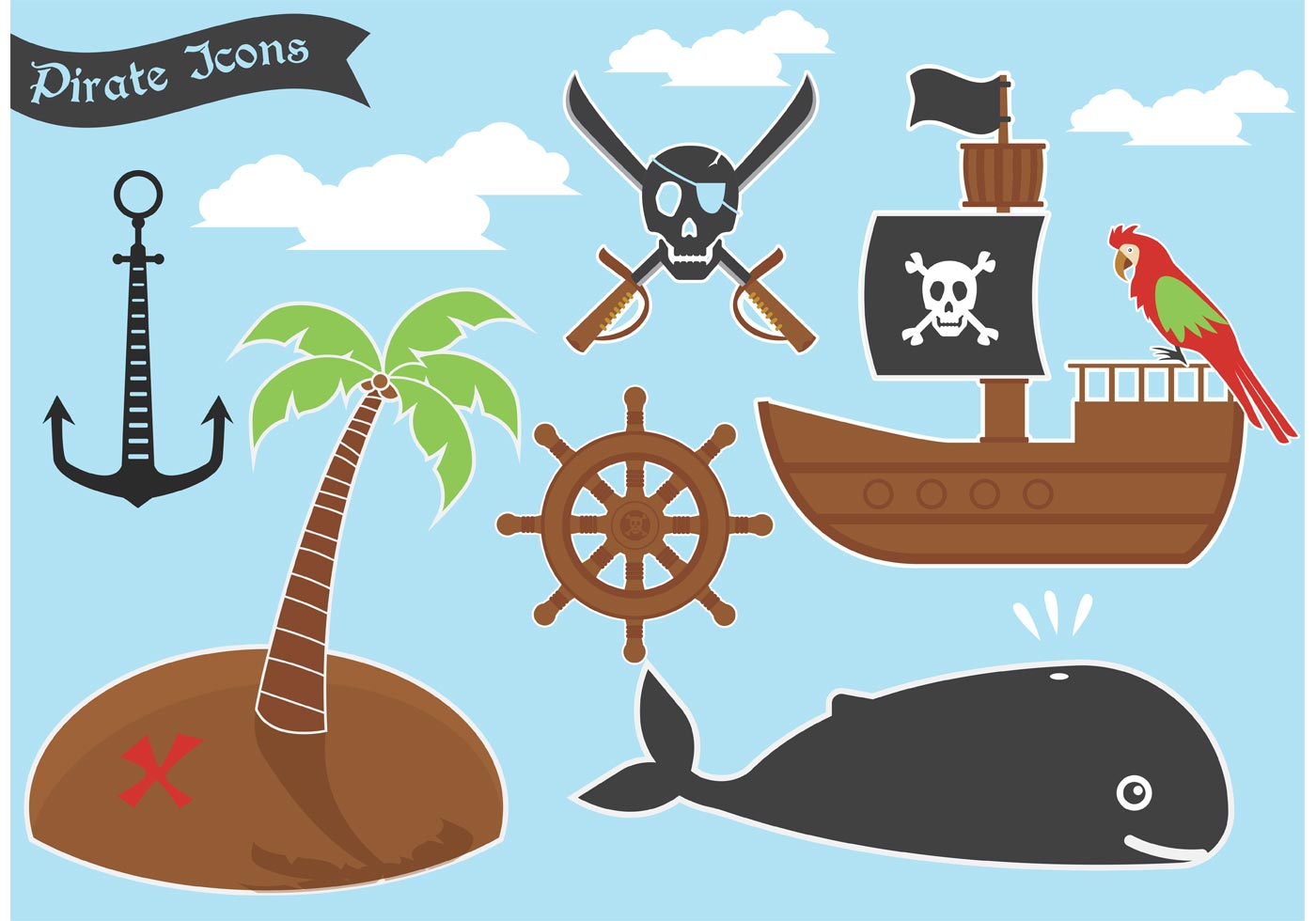 Pirate Vector Icons - Download Free Vectors, Clipart ...