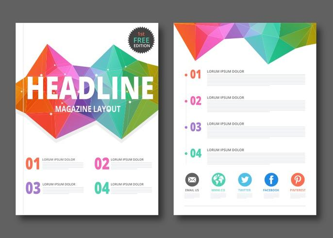 Free Geometric Magazine Layout Vector Download Free