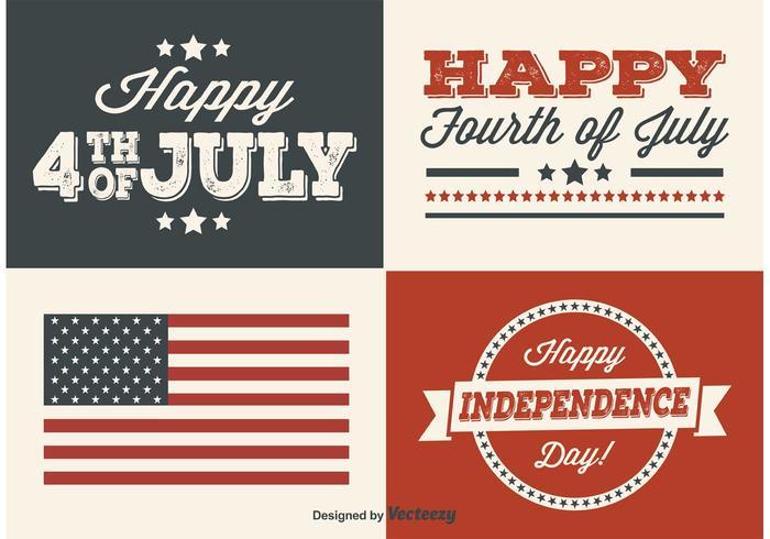 Etiquetas del Día de la Independencia vector