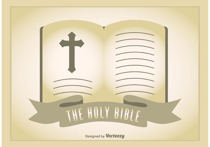 Ilustração aberta da Bíblia