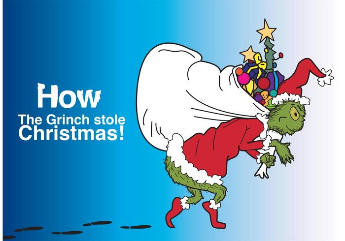 how the grinch stole christmas vector the grinch stealing a sack of ...