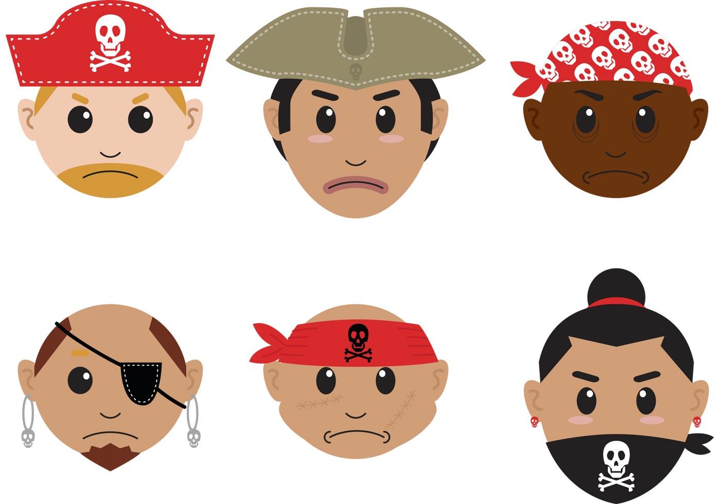 pirate face cartoon
