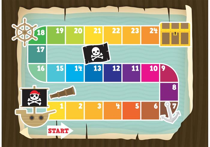 Vector Pirate Game Board
