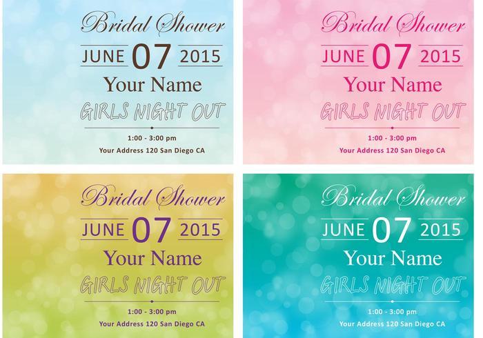 Bachelorette Party Card Vectors