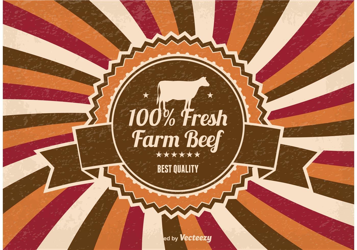 Fresh Farm Beef Illustration