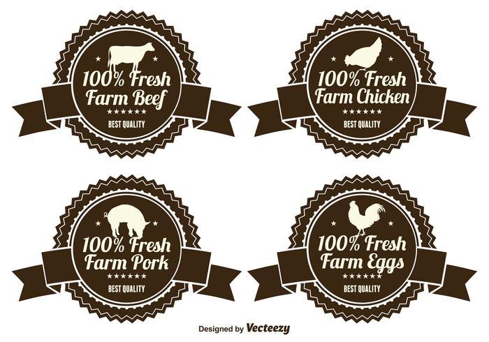 Étiquettes de produits agricoles frais