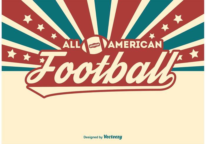 Ilustración del fútbol americano