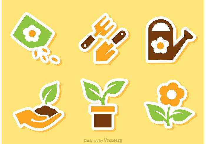 Gardening Sticker Vectors