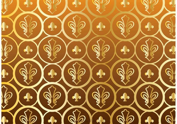 Gold Fleur De Lis Pattern Vector