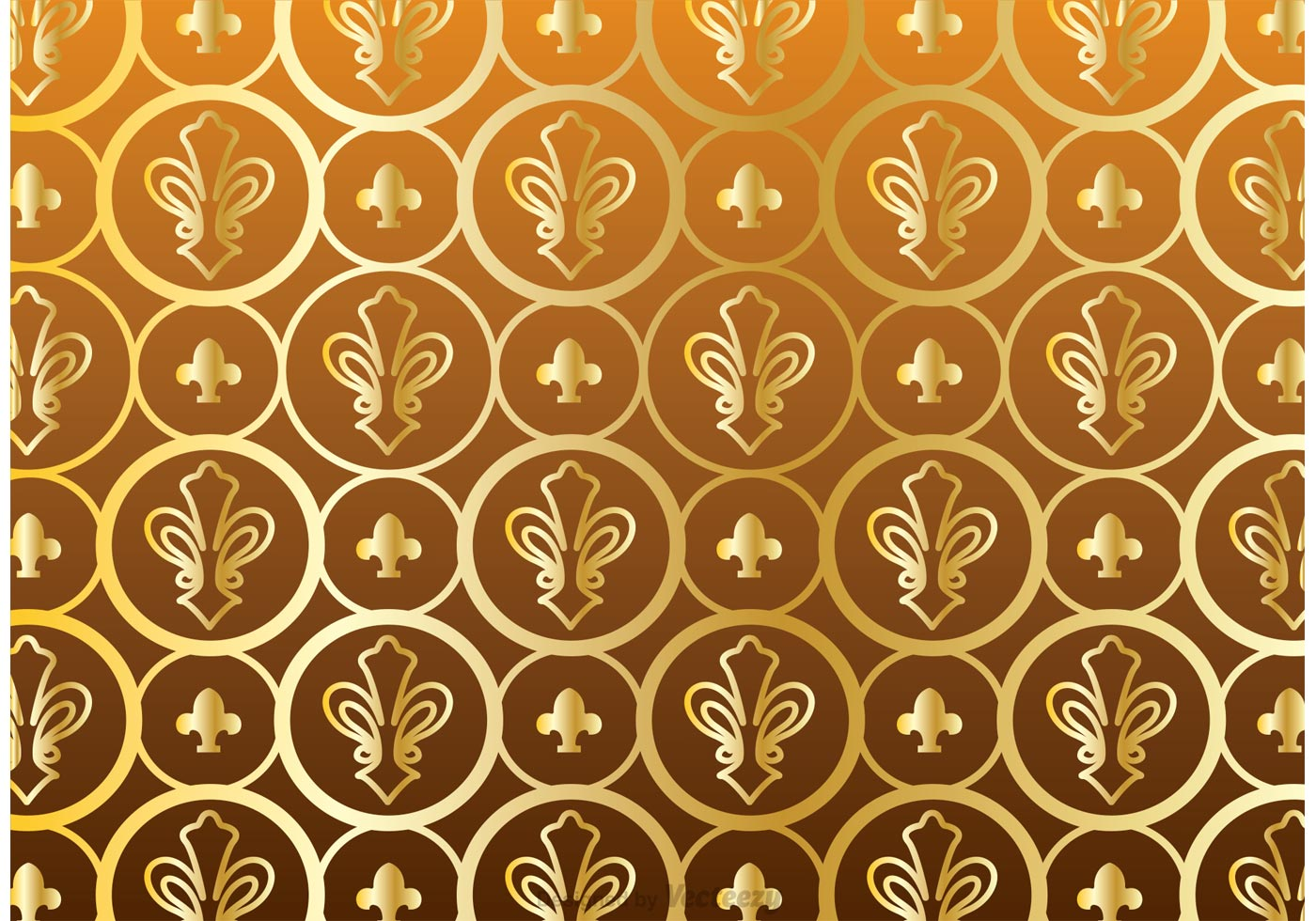 gold fleur de lis pattern vector download free vector
