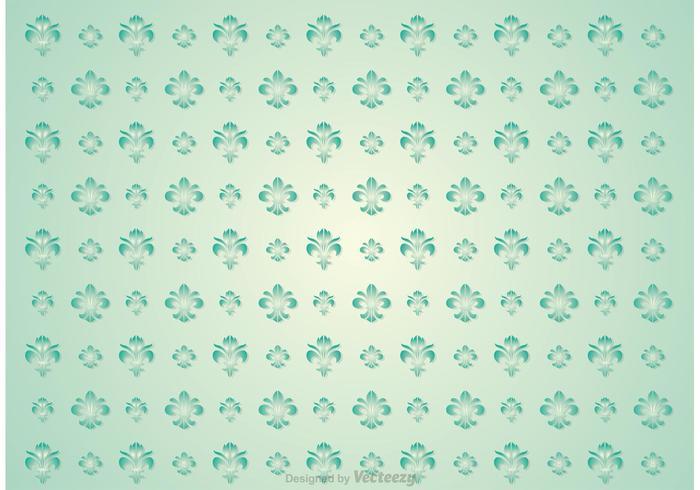 Fleur De Lis Nahtlose Muster Vektor