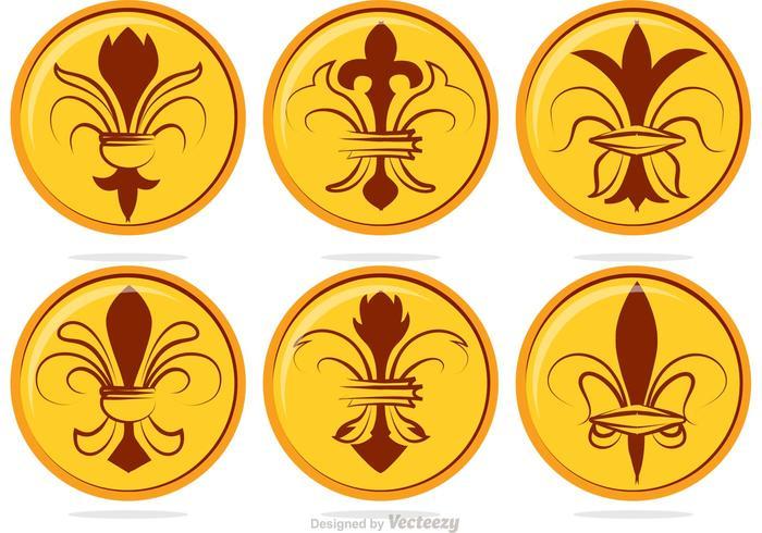Fleur De Lis Badge Vectors