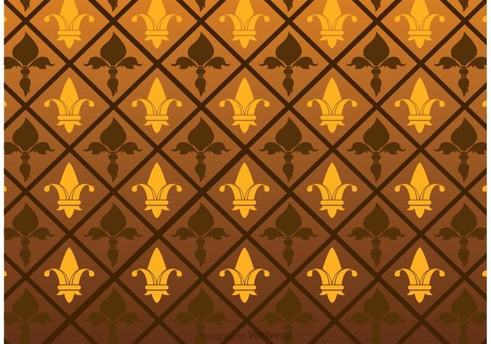 Fleur De Lis Pattern Vector