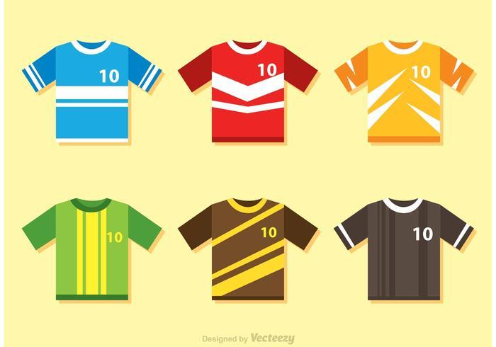 Farbe Fußball Jersey Vektoren