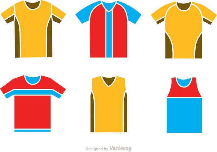 Soccer Jersey Icons Vectors