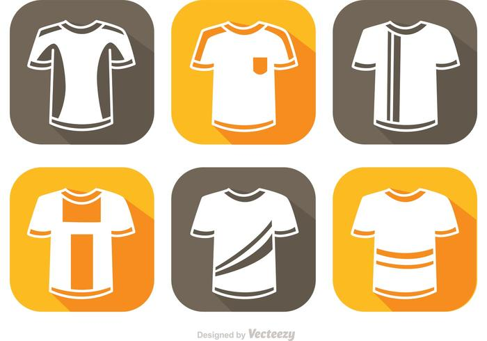 Soccer Jersey White Icons Vector