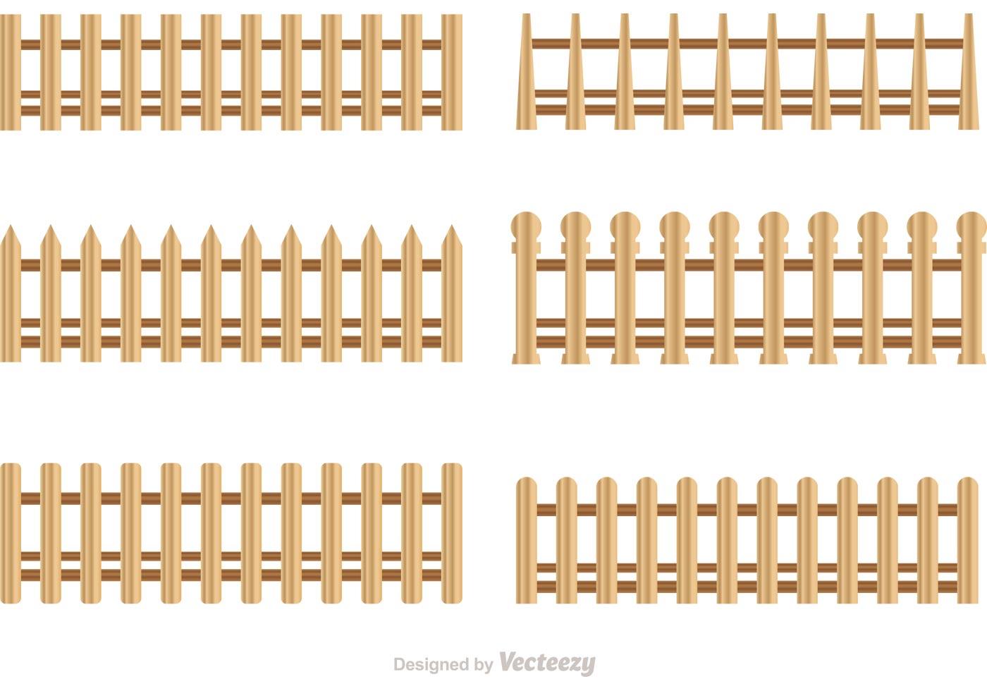 Wooden Picket Fence Vectors Download Free Vector Art