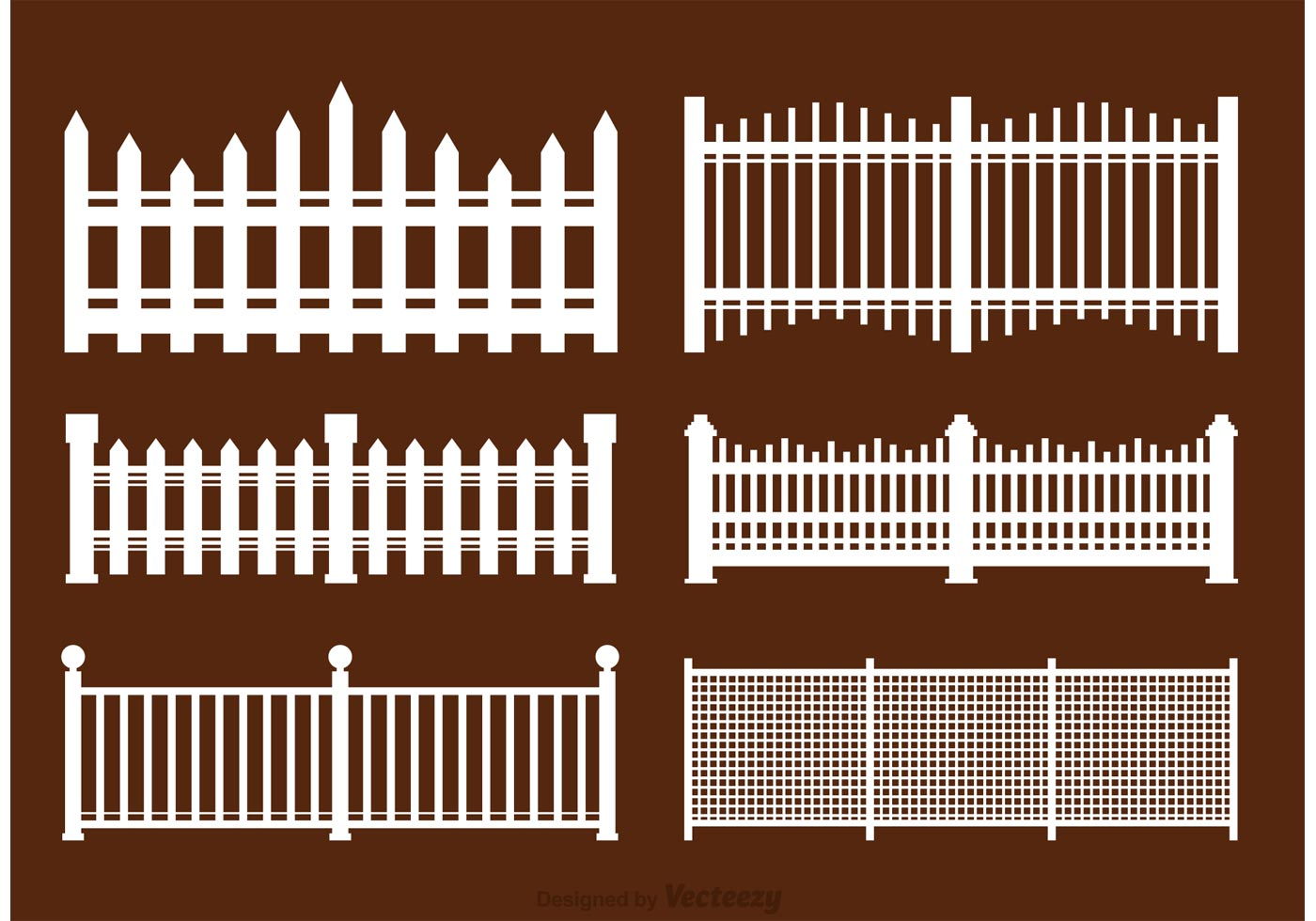 White Picket Fence Vectors - Download Free Vectors ...