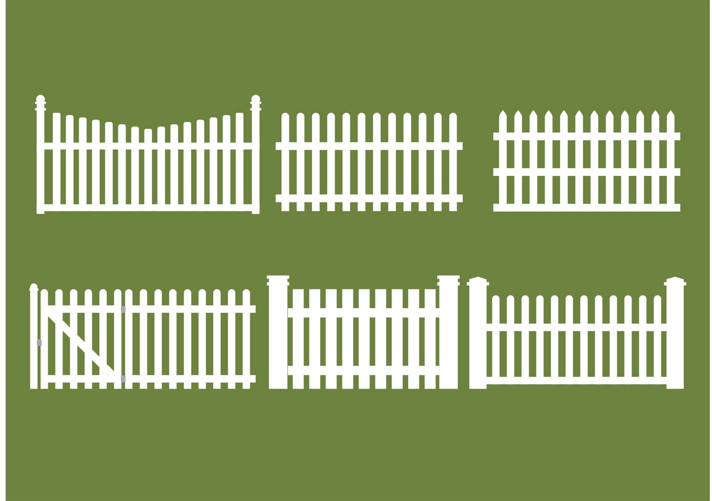 Straight Picket Fence Vectors Download Free Vector Art