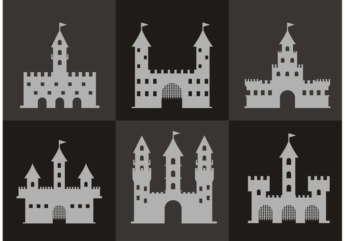Grey Fort Icon Vectors