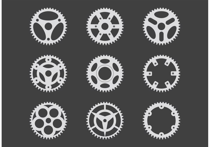 Simple Bike Sprocket Vectors