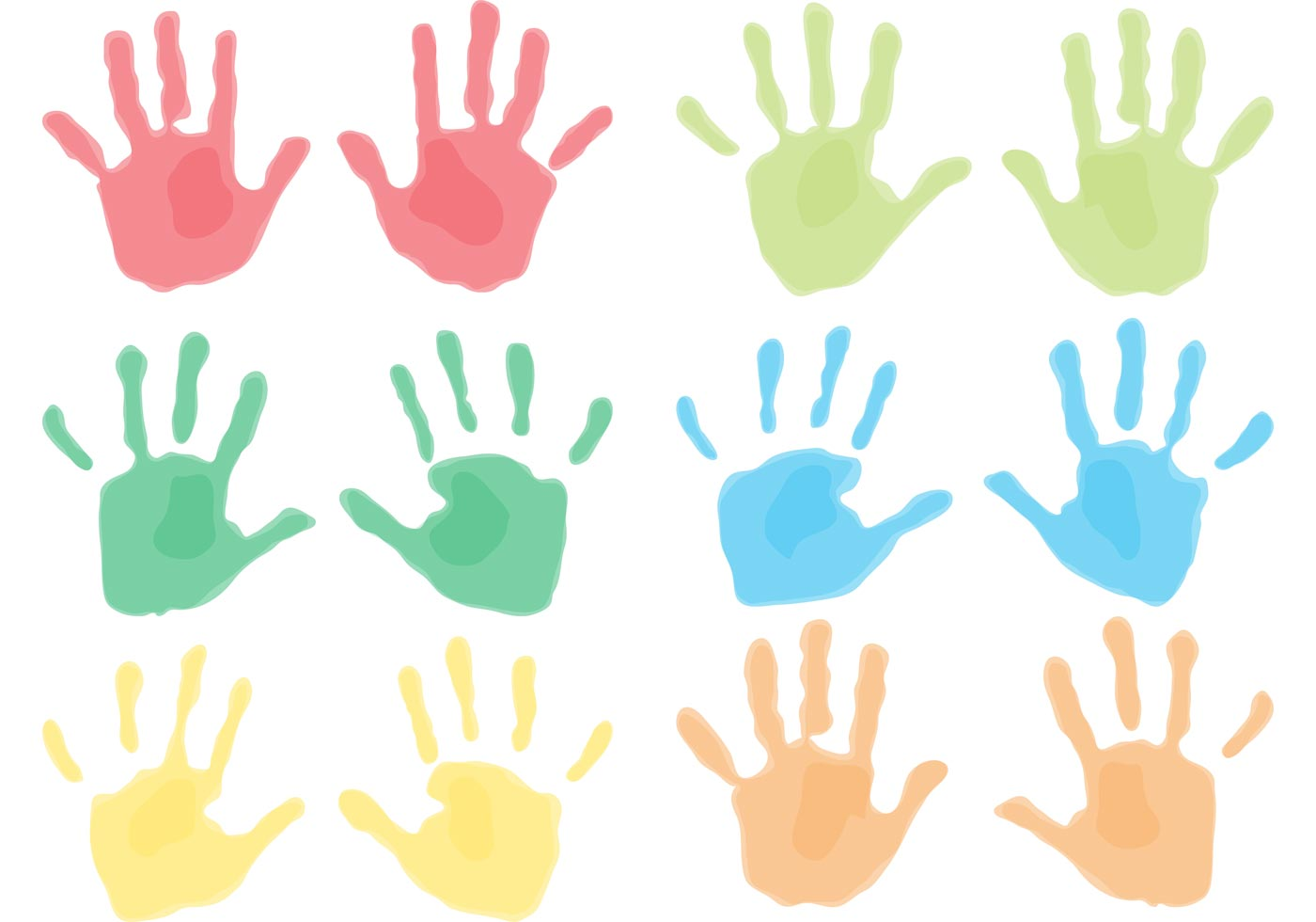 Handprints Del Niño Descargue Gráficos Y Vectores Gratis
