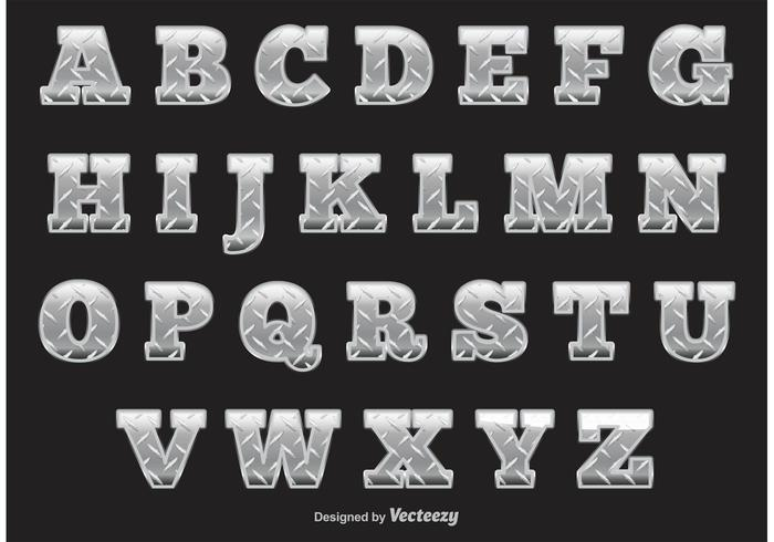 Diamond Plate Alphabet