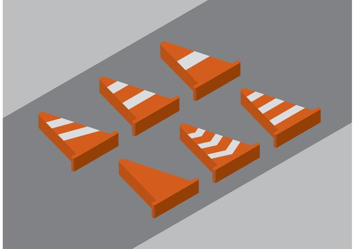 Vecteurs de cône d'orange