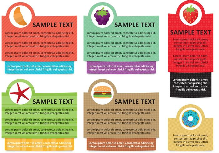 Información de Alimentos Text Box Template Vectors