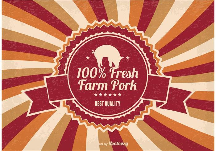 Ilustração da carne fresca do porco