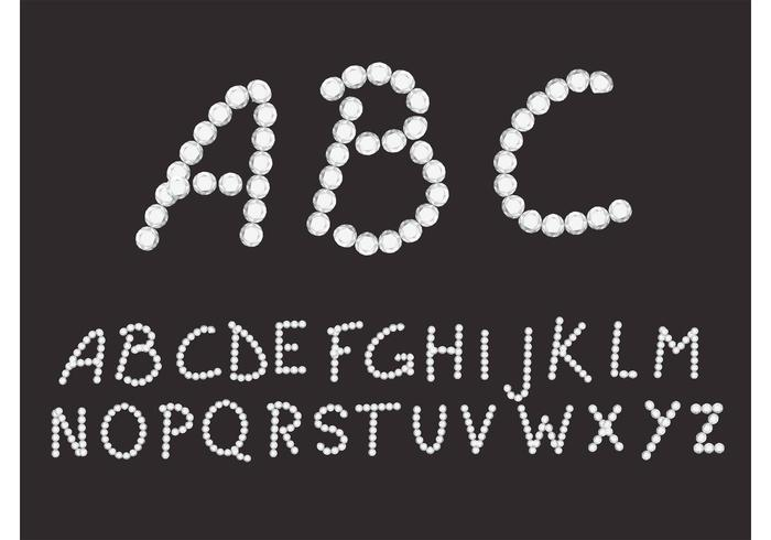 Vector Diamond Font