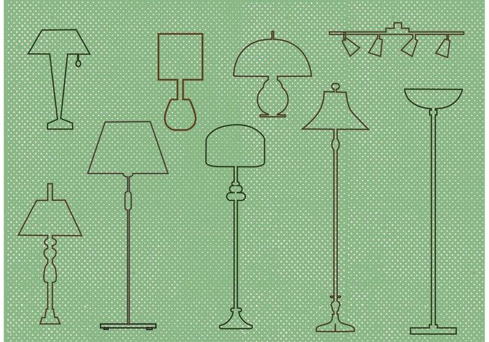 Free Vector Lamp Design Set