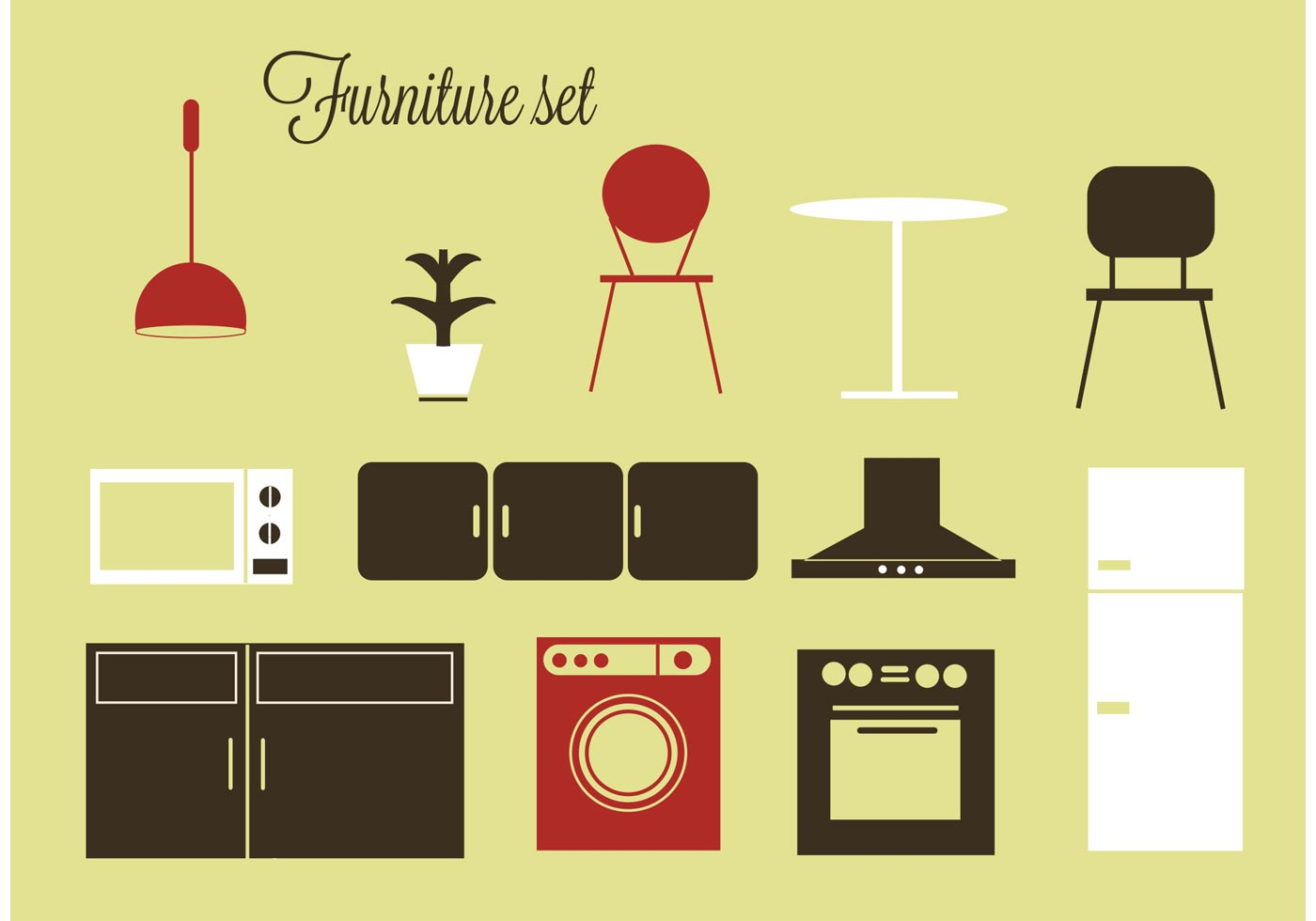 Free Vector Furniture And Home Accessories Download Free