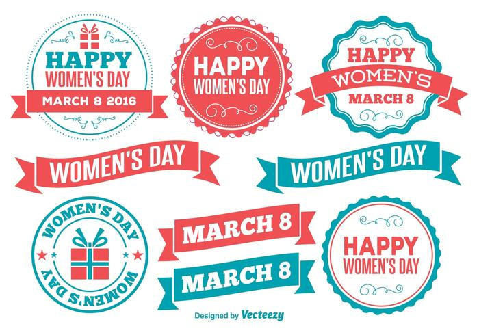 Womens Day Labels